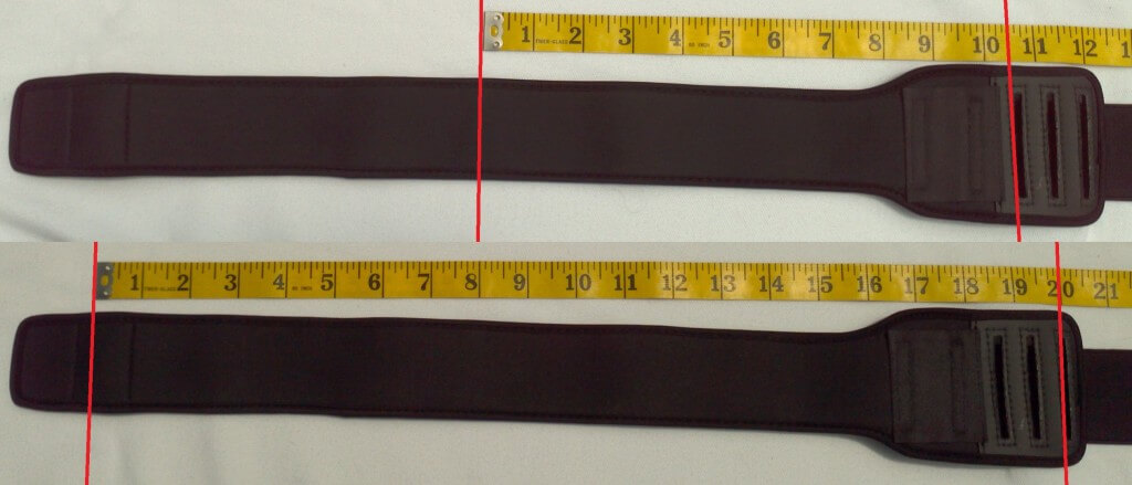 Longest and shortest arm cuff adjustments (Extra Large size)