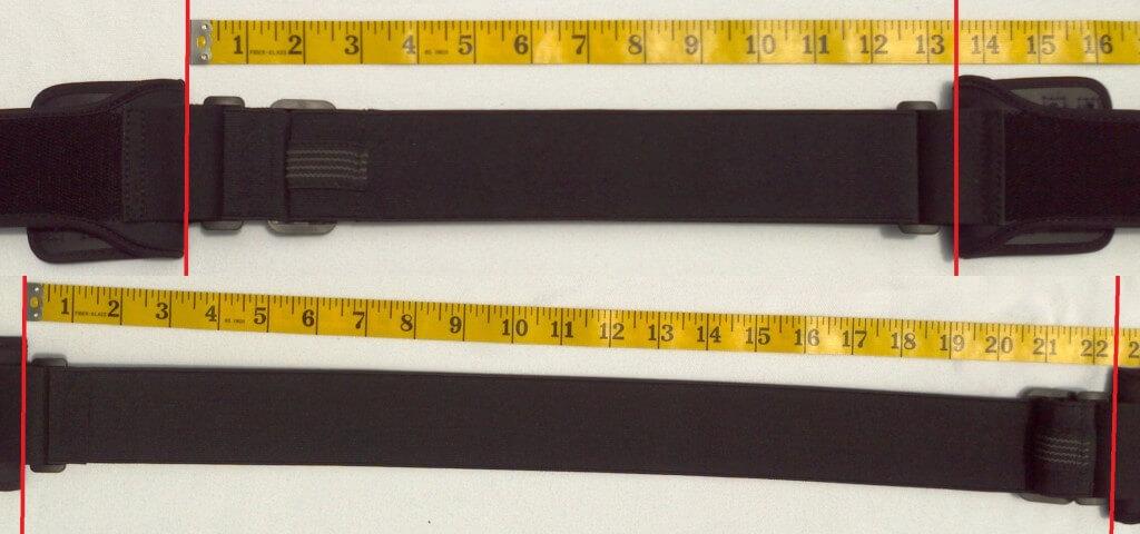Longest and shortest tension band adjustments (Extra Large size)