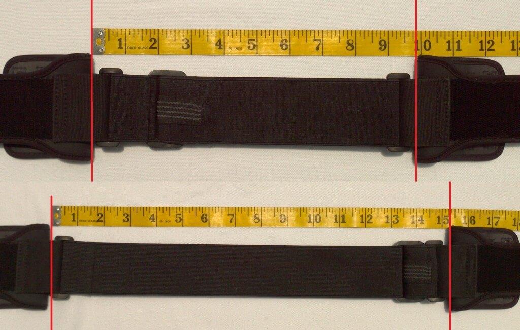 Longest and shortest tension band adjustments (Regular size)