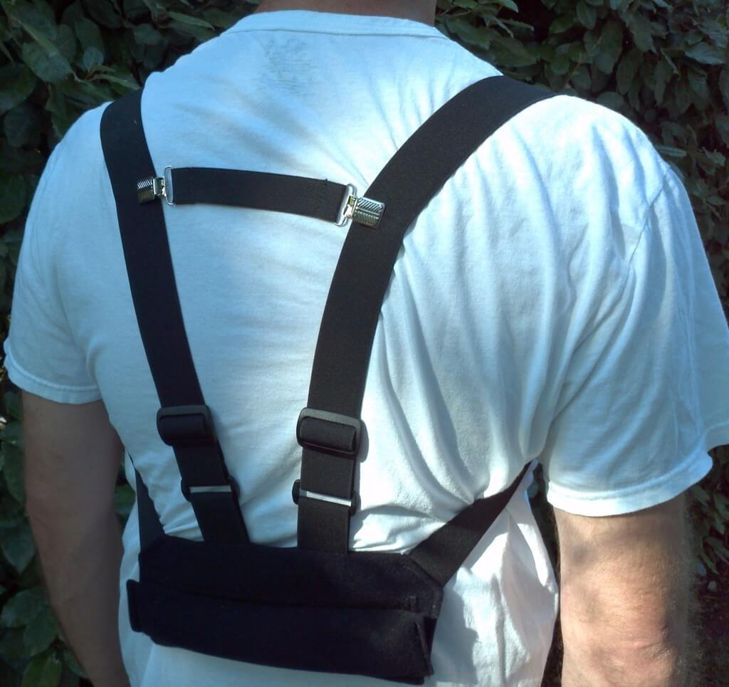 The Body-Rite can be worn in the lumbar area while standing or used as a lumbar roll while seated.