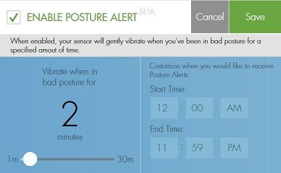 Posture alert
